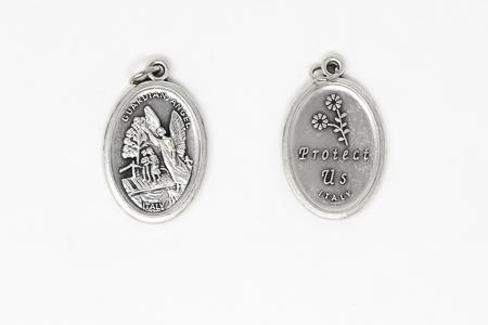 Guardian Angel Oxidised Medal.