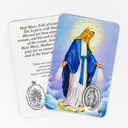 Miraculous Prayer Card & Medal