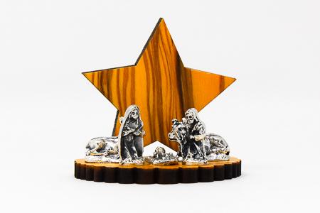 Star Wooden Nativity Scene.