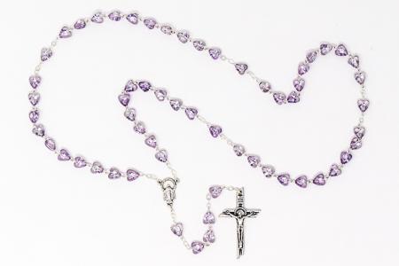 Purple Virgin Mary Rosary.