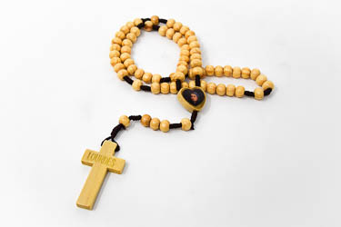 Bernadette Wooden Rosary Beads.