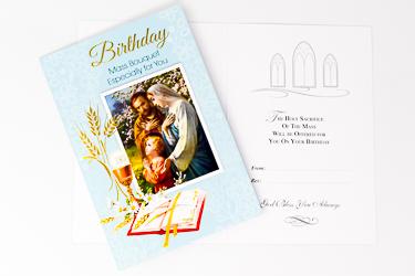 Holy Family Birthday Card.