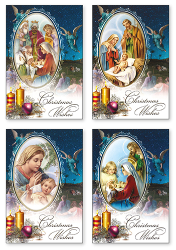 18 Angel Christmas Cards Boxed.