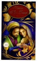 Holy Family Christmas Mass Bouquet Card.