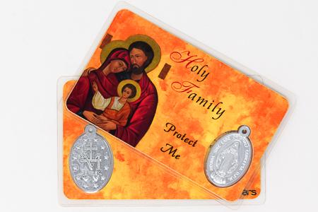 Holy Family Prayer Card & Medal