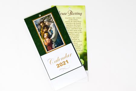 Holy Family Standing Calendar 2021.