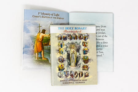 Paperback Holy Rosary Book.