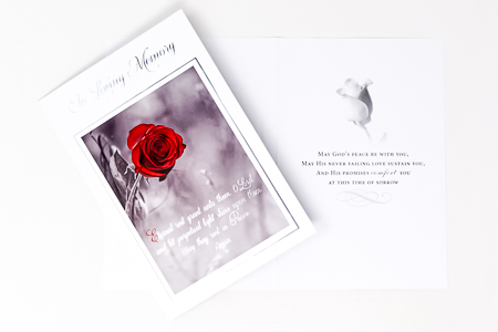 In Loving Memory Sincere Sympathy Card.
