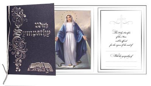 Loving Memory Miraculous Mass Card.