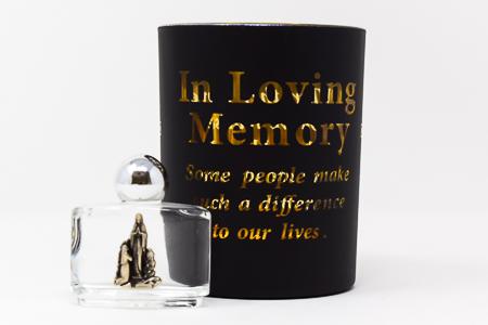 In Loving Memory Glass Votive Holder.