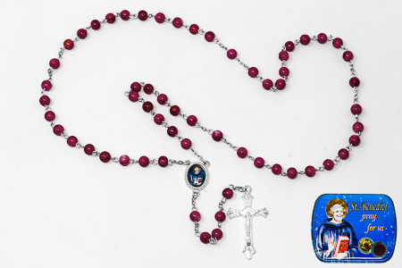St Benedict Red Rosary.