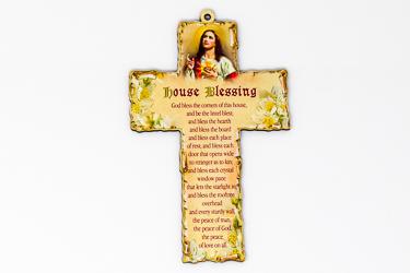 Sacred Heart of Jesus Wood Cross.
