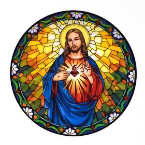 Sacred Heart of Jesus Window Sticker.