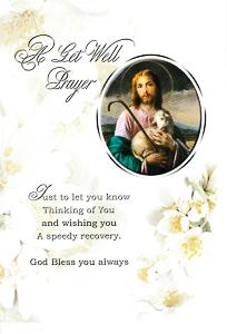 A Get Well Prayer Card - Jesus the Good Shepherd