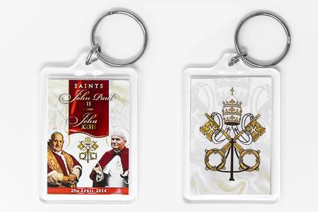 Key Ring Pope John XXIII & John Paul II.