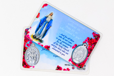 Miraculous Prayer Card & Medal