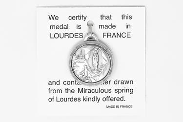 Apparition Lourdes Water Pendant.
