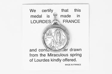 Apparition Lourdes Water Pendant.