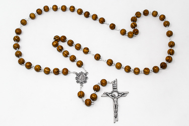 Large Olive Rosary Beads.