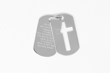 Lord's Prayer Dog Tags.