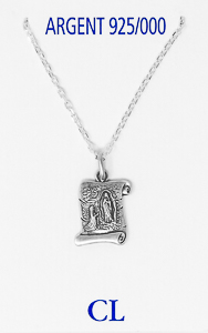 925 Sterling Silver Scroll Necklace.
