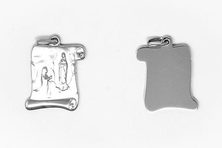925 Sterling Silver Scroll Pendant.
