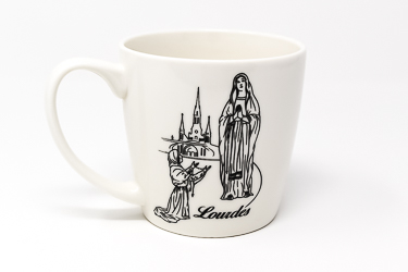Lourdes Apparition Mug.