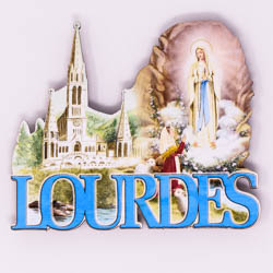 Lourdes Apparition Sanctuary Magnet.