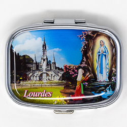 Lourdes Apparition Pill Box .