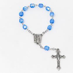 Lourdes Blue Handheld Rosary