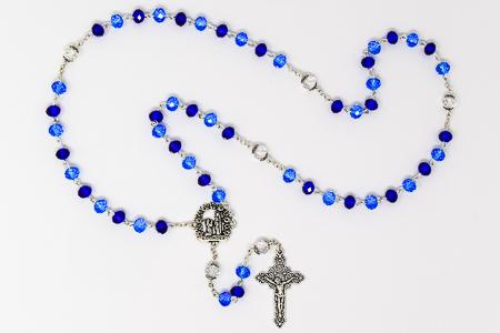 Crystal Rosary & Velvet Box.