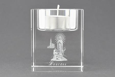 Lourdes Crystal Candle Holder..