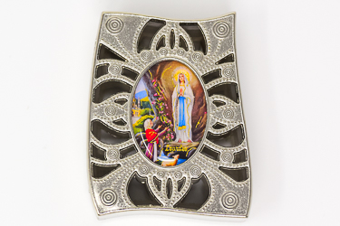 Lourdes Curved Rosary Box