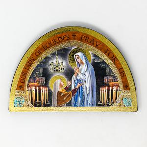 Lourdes Icon Wood Plaque.