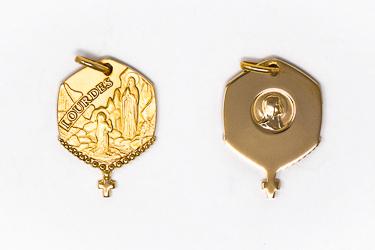 Lourdes Gold Pendant.