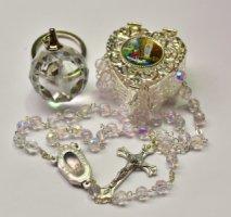 Lourdes Laser Key Ring Gift Set.