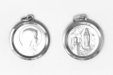 Sterling Silver Pendant Our Lady of Lourdes