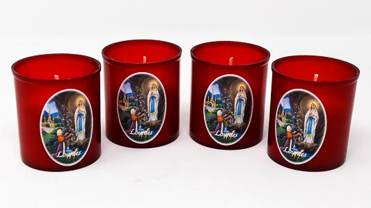 4 Lourdes Candles.