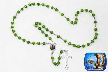 Lourdes Italian Metal Rosary.
