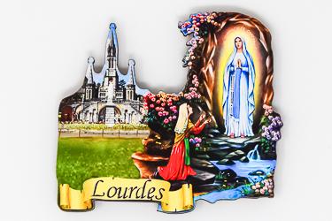 Lourdes Apparition Sanctuary Magnet.