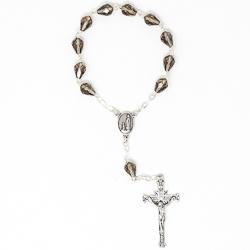 Sterling Silver Swarovski Decade Rosary.