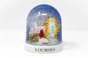 Lourdes Snow Globe.