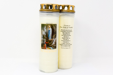 Our Lady of Lourdes Candle for 7 Days & 7 Nights.