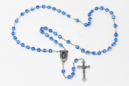 Lourdes Water Blue Rosary.