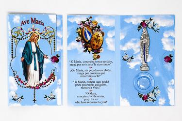 Lourdes Water Prayer Card.