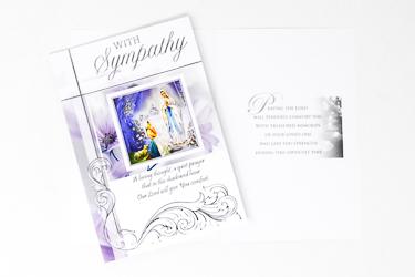 Lourdes with Sympathy Card.