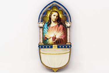 Sacred Heart of Jesus Luminous Holy Water Font.