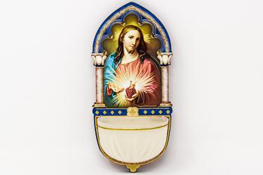 Sacred Heart of Jesus Luminous Holy Water Font.