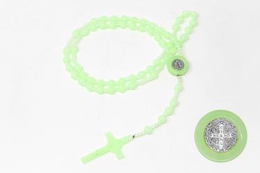 Luminous St Benedict Rosary Beads.