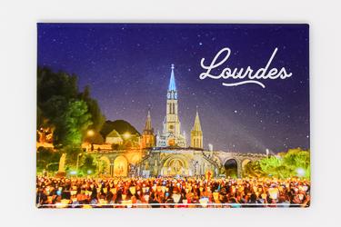 Lourdes Torchlight Procession Magnet.